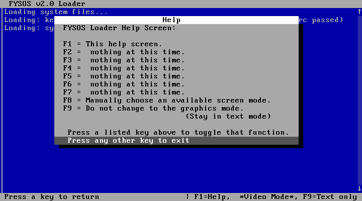 FYSOS Loader screenshot 2