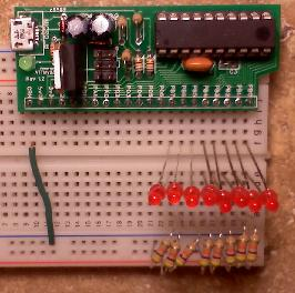 attiny2313 rev 1.0 Bread Board